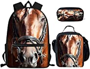 Sijiake Fashion school backpack cool brown horse, with adjustable belt bag three multi-functional backpacks, c