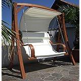 Design Hollywoodschaukel MERU HM101 aus Holz Lärche inkl. Abdeckung von AS-S