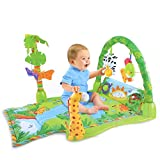 Zuvo: Rainforest Musical Lullaby Baby Gym - Tropical Jungle, Hanging Toys, 3 Playing Modes, Sound, Light (Multicolor, 83x42x43CM)