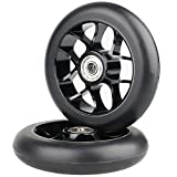Vokul 110mm Pro Kick Stunt Scooter ruedas con rodamientos ABEC-9, 2 piezas (Negro)