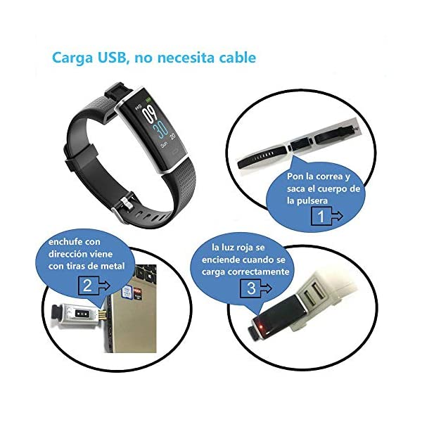 YAMAY Pulsera de Actividad Inteligente con Pulsómetro, Impermeable IP68 Smartwatch con 14 Moda Deportiva, Podómetro Pulsera Inteligente para Mujer Hombre Niño Reloj Inteligente Android y iOS Teléfono 7