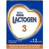 Nestle LACTOGEN 3 Follow-Up Formula Powder - After 12 months, Stage 3, 400g BIB Pack