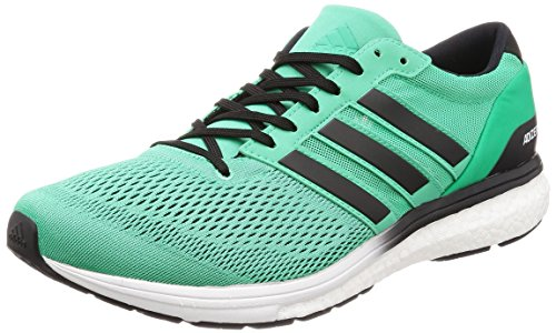 Adidas Adizero Boston 6 M, Zapatillas de Running para Hombre, Multicolor (Hi-Res Green S18/Core Black/FTWR White), 41 1/3 EU