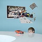Wandsticker Rennauto Rennwagen Wandtattoo Wandbilder Aufkleber für Auto Fans