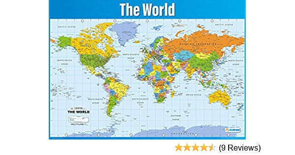 World map poster geography poster for students teachers large world map poster geography poster for students teachers large map of the world high quality gloss paper wall chart a1 841mm x 594mm gumiabroncs Images