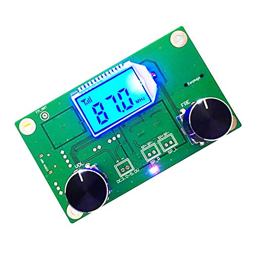 PEMENOL FM Frequency Modulation Receiver Modul Stereo With Silencing LCD Display 3-5V Lcd-stereo