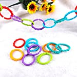 TOYMYTOY 24pcs Baby Teether Rings Links Toys Links Rattle Strollers Car Seat Travel Toys for Baby Infant Newborn
