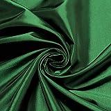 10 Meter Stoff Polyester Kleidertaft grün Taft dezenter