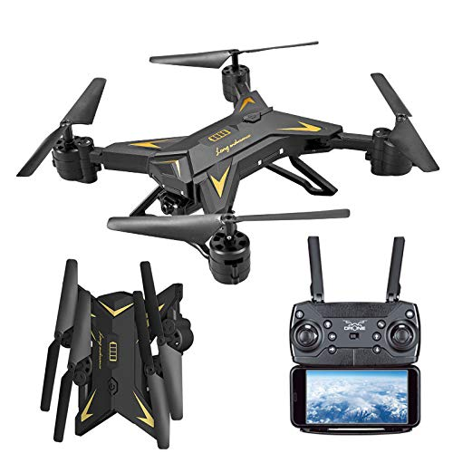vhuaiP9 Drone,Foldable WiFi FPV RC Quadcopter Drone with 1080P 5.0MP Camera Selfie Drone (Black)