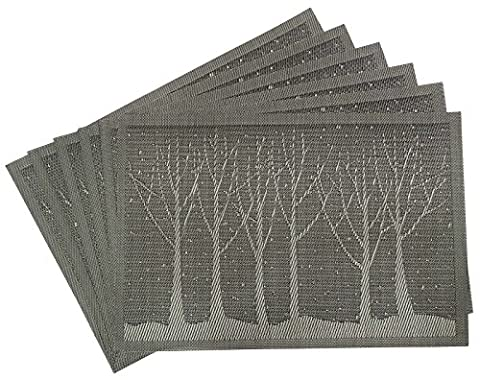 Weave Tree Design Napperon Lavable Réversible Dinning Mat Set De