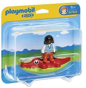 Playmobil - 6764 - Fillette & Bateau Crocodile
