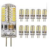 10 x G4 LED Stiftsockel 3Watt Birne LED Lampe Perlen AC 220-240 V 48 SMD 3014 Sparlampe Warmweiß,mengjay