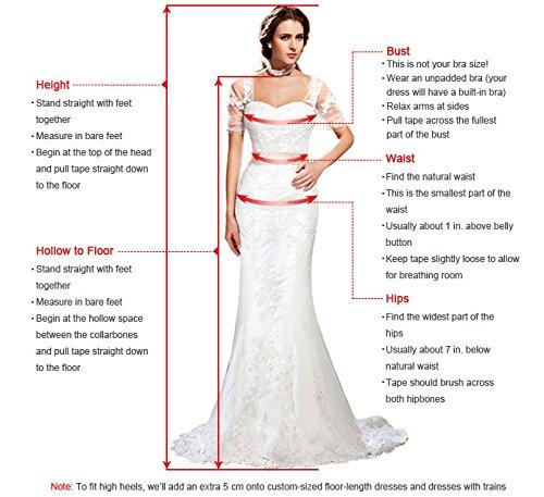 MisShow® Damen Elegant Lang Applikation Abendklied Spitzen Ballkleid Cocktailkleid Brautjungfernkleid 2017 Navy-Blau