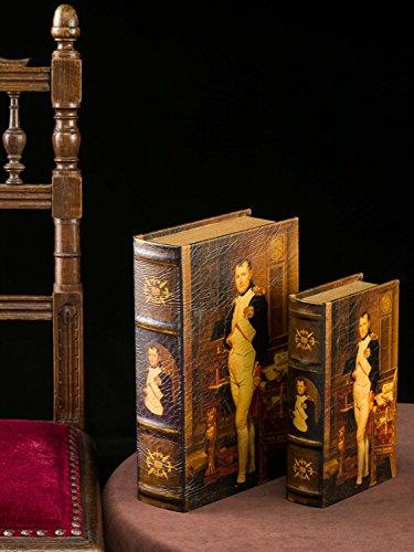 2x Schatulle Napoleon Buchattrappe Box Kästchen Schmucketui Buchtresor book box - 5
