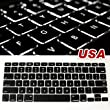 """ML0101 New black keyboard cover skin for Apple macbook pro 13"""" 15"""" 17"""" (US Version keyboard only)"""