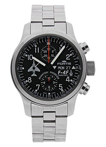 Fortis - Reloj de pulsera Phantom F-4F para hombre, cronógrafo, fecha, día de la semana, analógico, automático 635.10.91 M