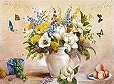 Abstrakte Blume Öl Malen nach Zahlen, handgemalt Leinwand Art Wand Bild, Rahmenlos DIY öLgemäLde