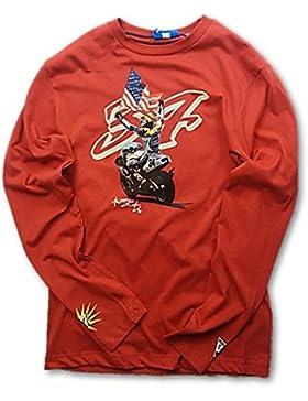 Camiseta 3502–07manga larga bicicleta MotoGP Kevin Schwantz 34Rojo, hombre, rojo, XL