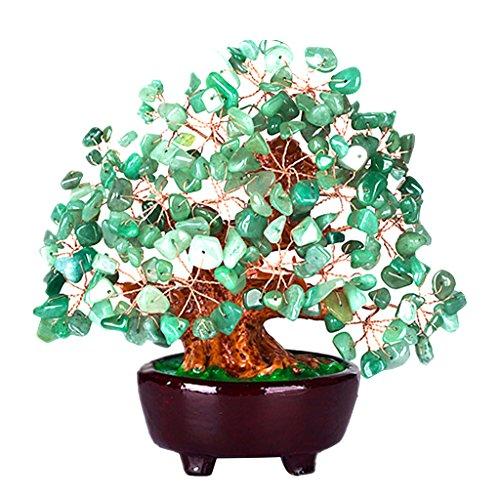Homyl mini albero dei soldi di cristallo stile bonsai feng shui arredamento casa ufficio - verde