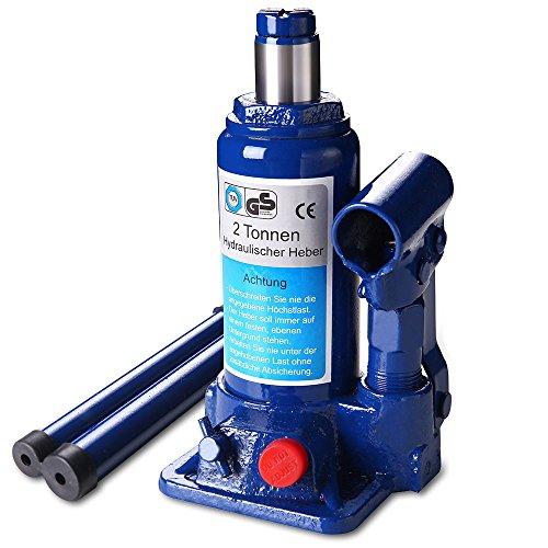 [lux.pro] Wagenheber (2 Tonnen Stemmkraft) hydraulisch / Zylinderkopf-Heber / Hydraulik-Heber