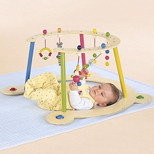 Hess Baby Spiel- und Lauflerngerät/Spielbogen aus Holz/Lauflernwagen ab 6 Monate/Höhe: 32 cm
