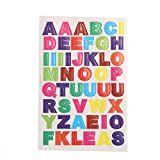 #6: ROSENICE Alphabet Stickers 10 Sheet Colorful Letter Stickers DIY Card Stickers A to Z