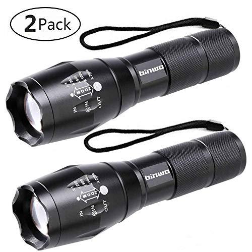 LED Taschenlampe, Binwo Tragbarer Zoombar Superhelle 2000 Lumen CREE LED Taschenlampe, 5 Modis Einstellbar, Wasserdicht Taschenlampen für Outdoor Sports
