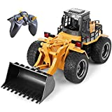 Top Race 6 Channel Full Functional Front Loader, RC Remote Control Construction Toy Tractor with Lights & Sounds 2.4Ghz (TR-1