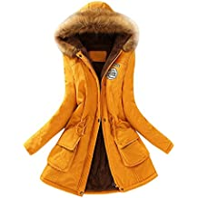 best service aaf82 448b0 Amazon.it: parka donna invernale - Giallo
