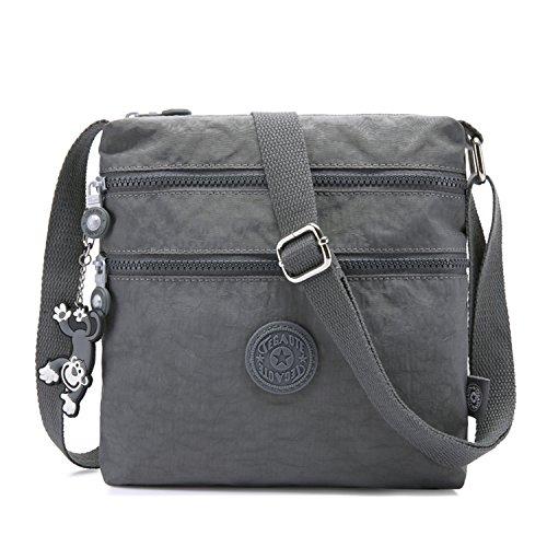 Foino Umhängetasche Damen Schultertasche Mode Kuriertasche Vintage Handtasche Lässige Taschen Reisetasche Leicht Strandtasche Sporttasche für Mädchen Büchertasche Design Messenger Bag -