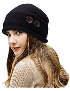 Sombrero cloche para mujer, de la marca Lawliet, de lana y estilo vintage elegante
