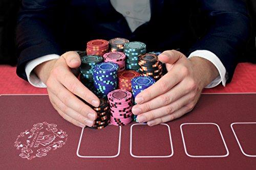 Bullets Playing Cards Profi Pokermatte in 90 x 180cm Eigenen Pokertisch - Deluxe Pokertuch – Pokerteppich – Pokertischauflage – Ideal als Geschenk - 9