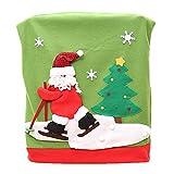Sasairy Weihnachten Dekor Stuhl Rückseitige Abdeckung Kostüm Deko Weihnachtsstuhl Stuhlhussen Xmas Party Tabellen Dekor - Weihnachtsmann