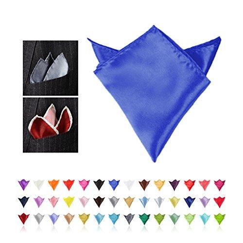 Vollter Combinaison homme carré Hanky mouchoir de poche Bleu - Blue 1