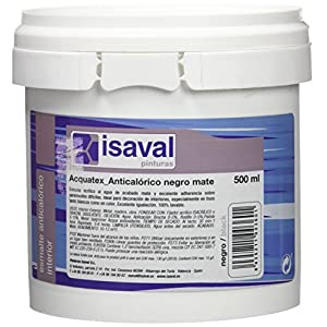 Isaval – Pintura anticalórica, color negro mate, 500 ml