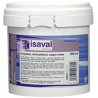 Isaval – Pintura anticalórica, color negro mate, 500 ml