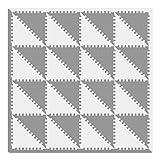 Bodenmatte Puzzlematte Schaumstoff Puzzle Kinderteppich Puzzlespielmatte Foam Matte Spielmatte Schaumstoff Verriegelung Puzzle Kinderteppich trigonal, grün AMP050Z3510HUI