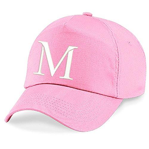 New Casquette de Baseball Cap BRODÉ Letter A Z Garçon Fille Enfants Chapeau Bonnet Unisexe Rose 4sold M