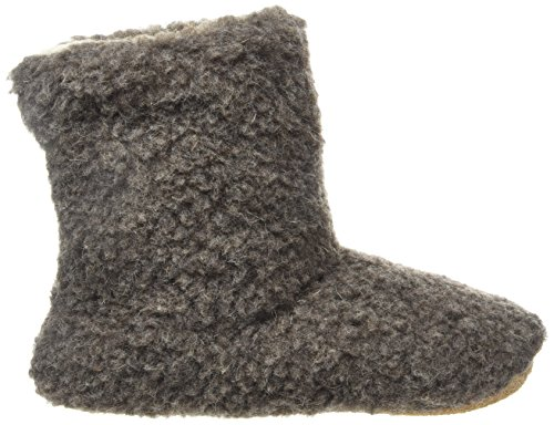 Woolsies  Aconca Natural Wool Slipper Booties, Chaussons à doublure chaude femme Marron (Latte Brown)