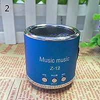 Originaltree - Altavoz portátil inalámbrico Mini USB con Radio FM y Tarjeta Micro SD TF y Reproductor de MP3, Color Azul