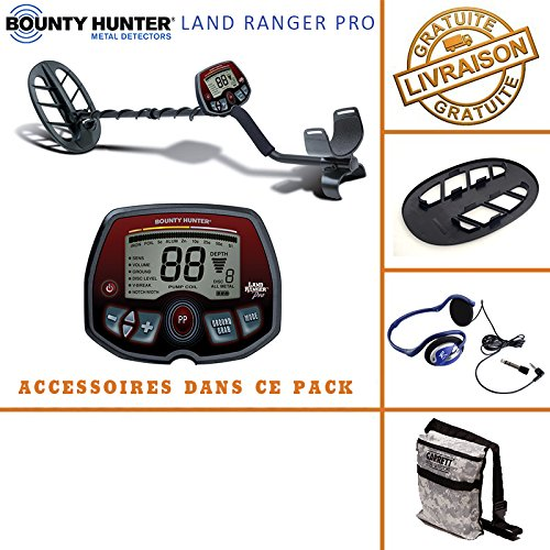 Bounty Hunter-Knacken tecteur, © Rate Land Ranger Pro mit seinem protã ¨ GE Festplatte, Tasche Camo Pouch Garrett und Kopfhörer