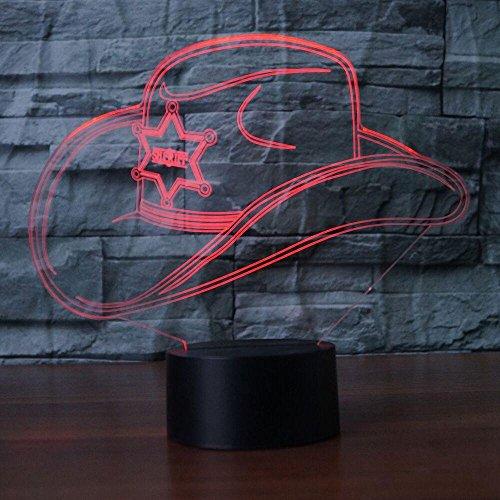 ut Lampe optische Illusion Nachtlicht, 7 Farbwechsel Touch Switch Tisch Schreibtisch Dekoration Lampen perfekte Weihnachtsgeschenk mit Acryl Flat ABS Base USB Spielzeug ()