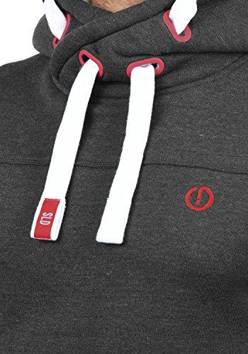 SOLID BenjaminHood Herren Kapuzenpullover Hoodie Sweatshirt mit optionalem Teddy-Futter aus hochwertiger Baumwollmischung Meliert Medium Grey mit Teddy-Futter