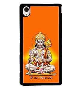 Fuson Sri Hanuman Designer Back Case Cover for Sony Xperia M4 Aqua :: Sony Xperia M4 Aqua Dual (Hanuman Anjaneya Bajrangbali Chanchaladwala Chaturbahave)