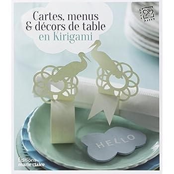 Cartes, menus et décors de table en kirigami