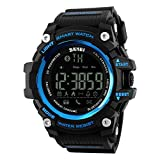 #9: SKMEI 1227 Bluetooth Digital Smart Watch Blue With Health Fitness and Sport Activity Tracker Compatible with IOS, Android, Apple iphone 7, 3G, 4G Smart Phones, All Mobiles