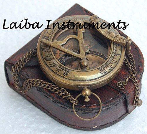Hayah - Botón de latón Antiguo con brújula de Estilo Vintage