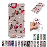 V-Ted Coque Apple iPhone 6S Plus 6 Plus Fleur Silicone Ultra Fine Mince Bumper Housse...