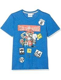 Super Mario Bros Chicos Camiseta Manga Corta - Azul