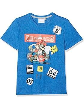 Nintendo Super Mario Bros Chicos Camiseta Manga Corta - Azul